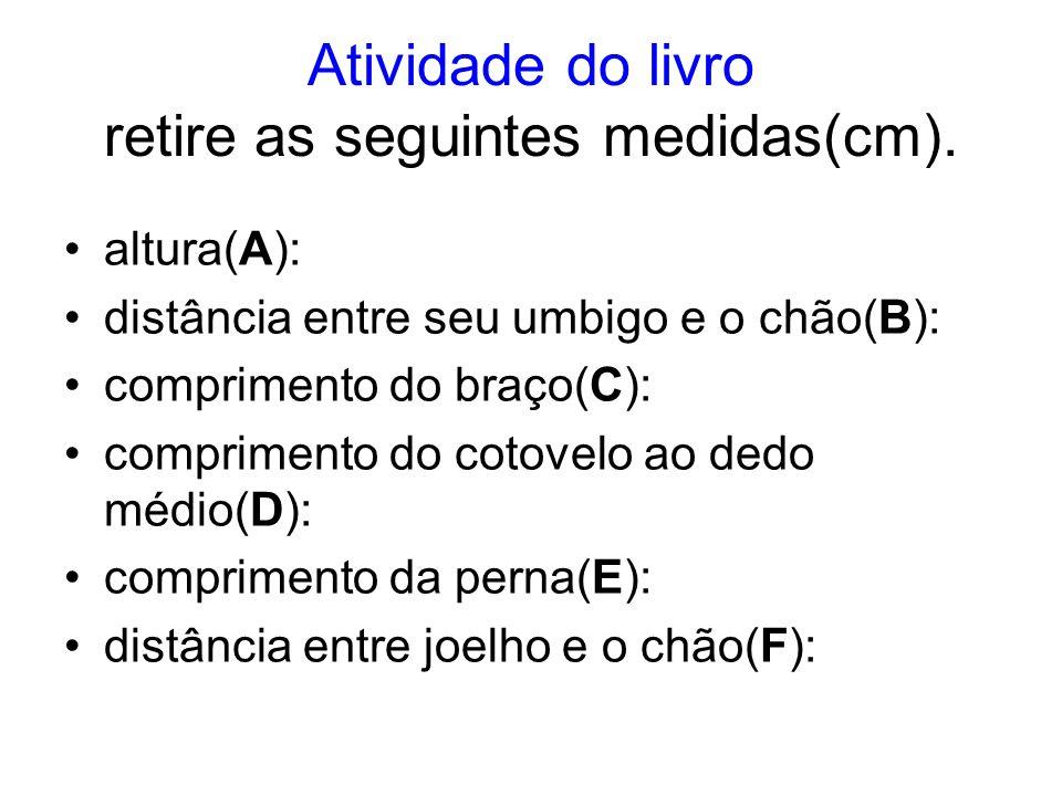 Atividade do livro retire as seguintes medidas(cm).