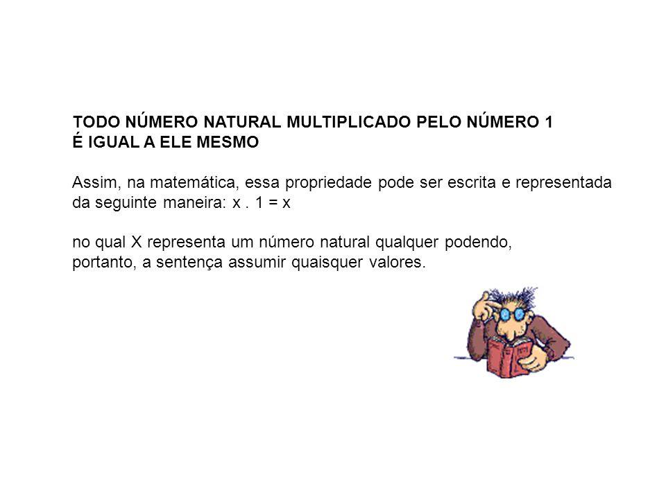 TODO NÚMERO NATURAL MULTIPLICADO PELO NÚMERO 1