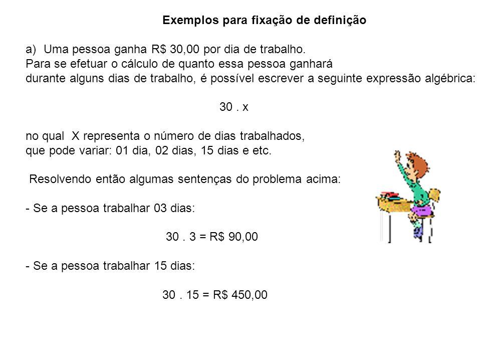 Exemplos para fixação de definição