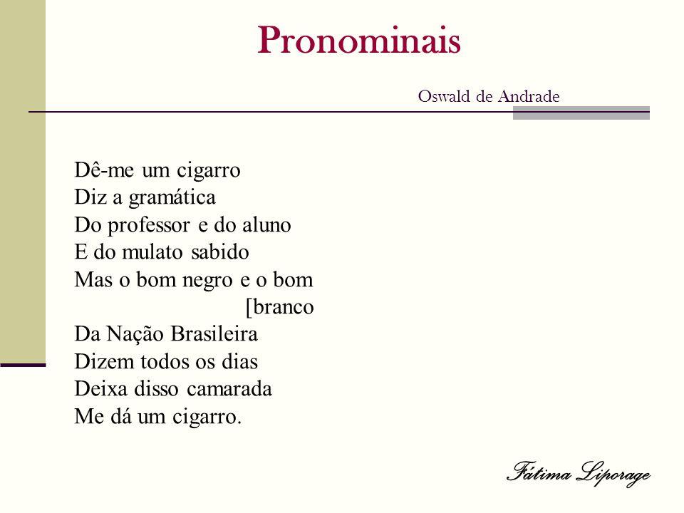 Pronominais Oswald de Andrade
