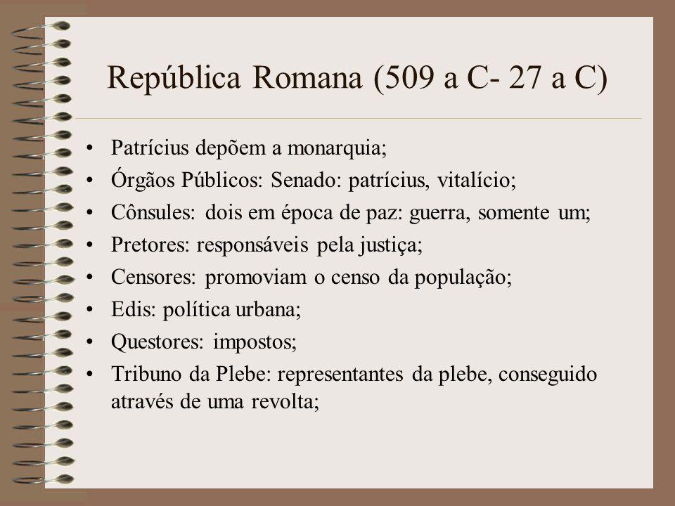 República Romana (509 a C- 27 a C)