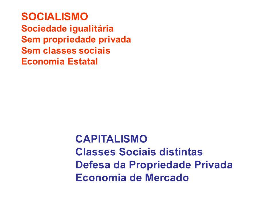 SOCIALISMO Sociedade igualitária