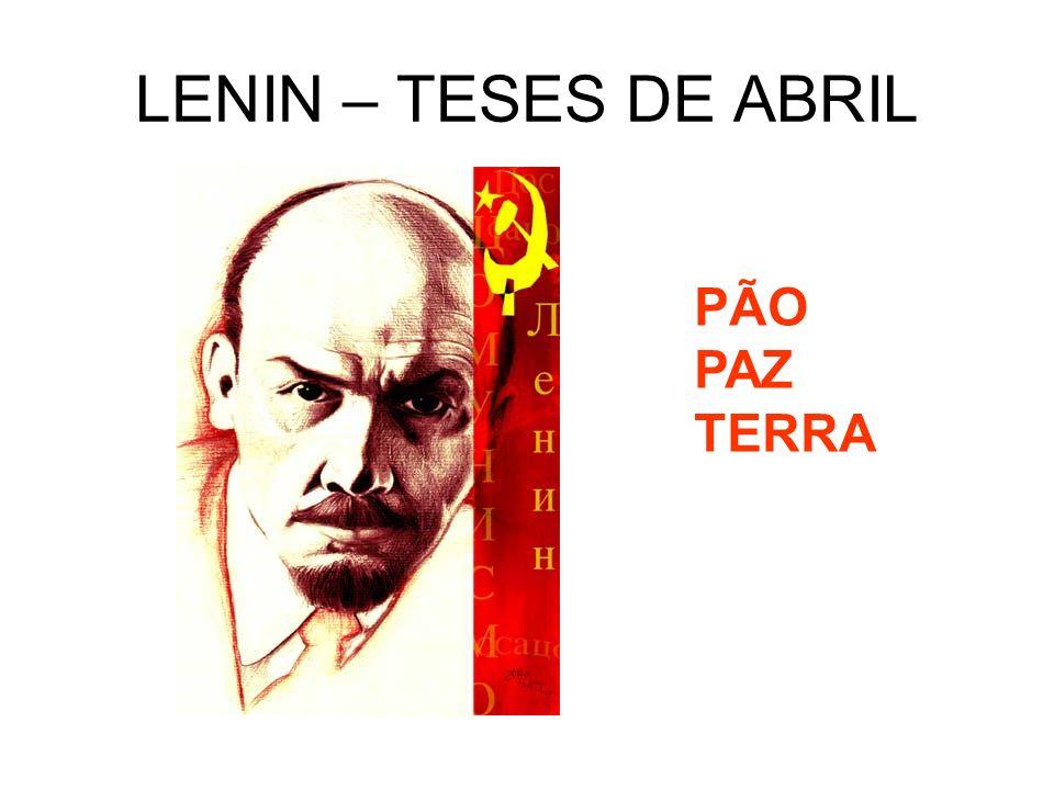 LENIN – TESES DE ABRIL PÃO PAZ TERRA