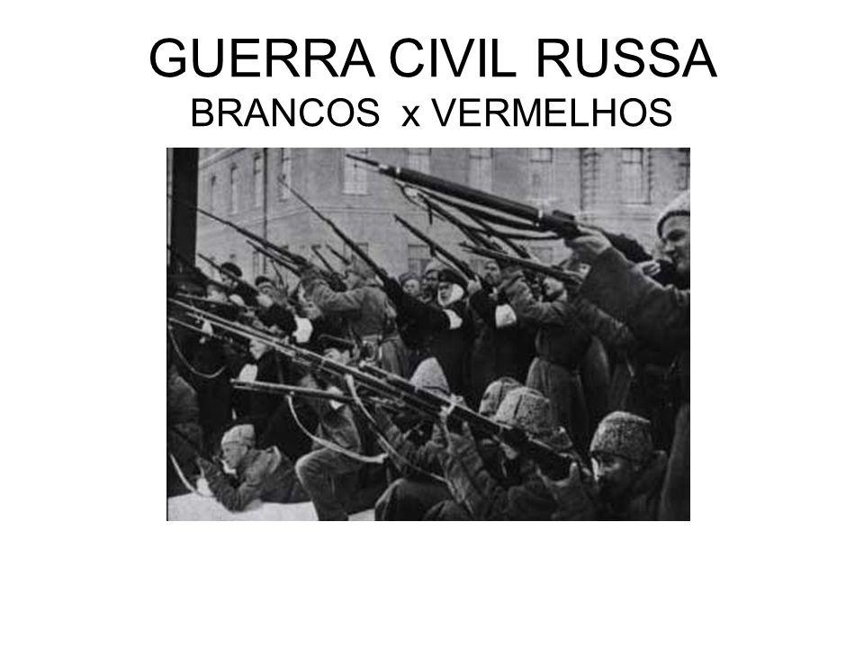 GUERRA CIVIL RUSSA BRANCOS x VERMELHOS