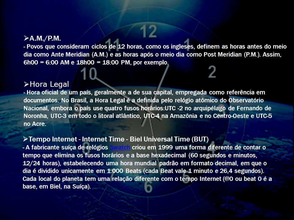 Tempo Internet - Internet Time - Biel Universal Time (BUT)