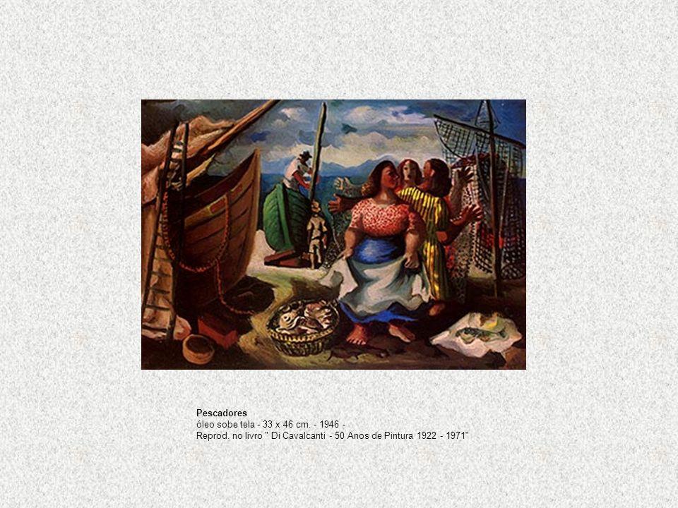 Pescadores óleo sobe tela - 33 x 46 cm. - 1946 - Reprod