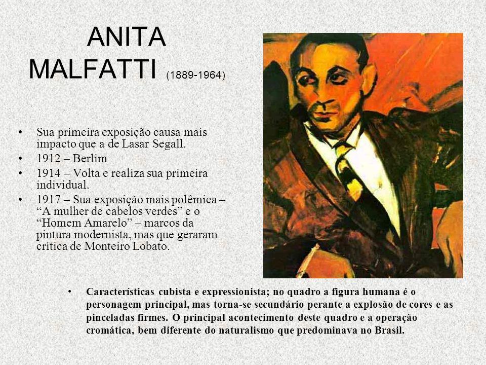 ANITA MALFATTI (1889-1964) Sua primeira exposição causa mais impacto que a de Lasar Segall. 1912 – Berlim.