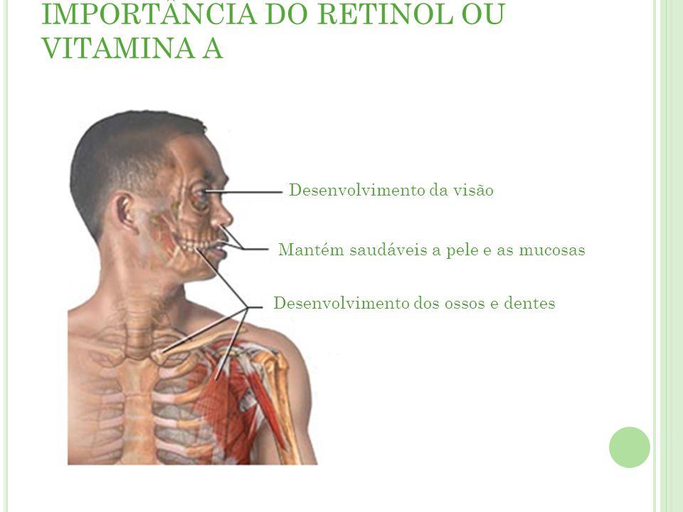 IMPORTÂNCIA DO RETINOL OU VITAMINA A