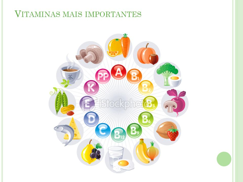 Vitaminas mais importantes