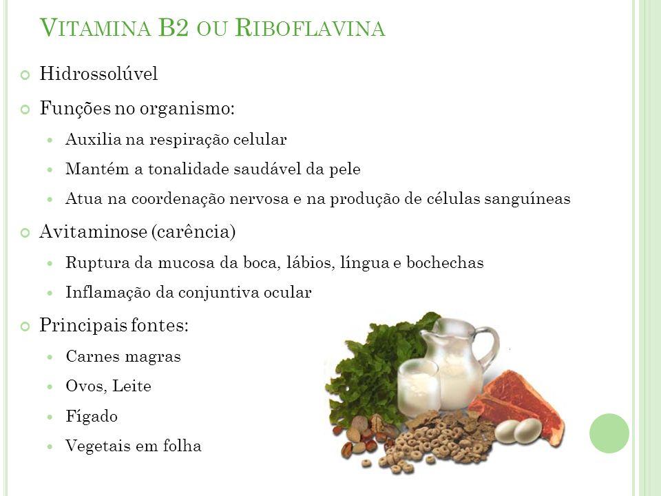 Vitamina B2 ou Riboflavina