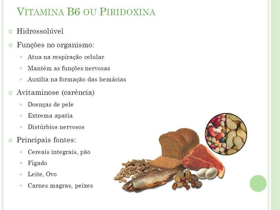 Vitamina B6 ou Piridoxina