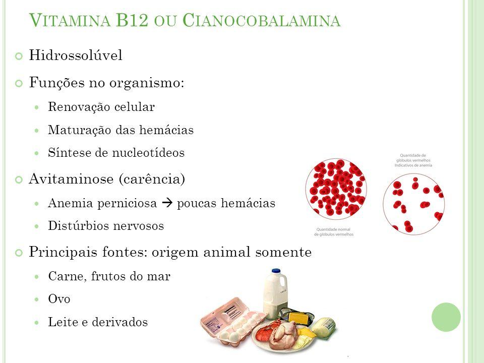 Vitamina B12 ou Cianocobalamina