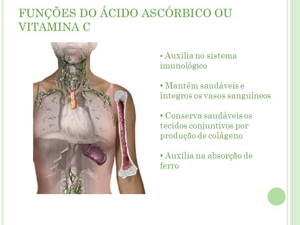 FUNÇÕES DO ÁCIDO ASCÓRBICO OU VITAMINA C