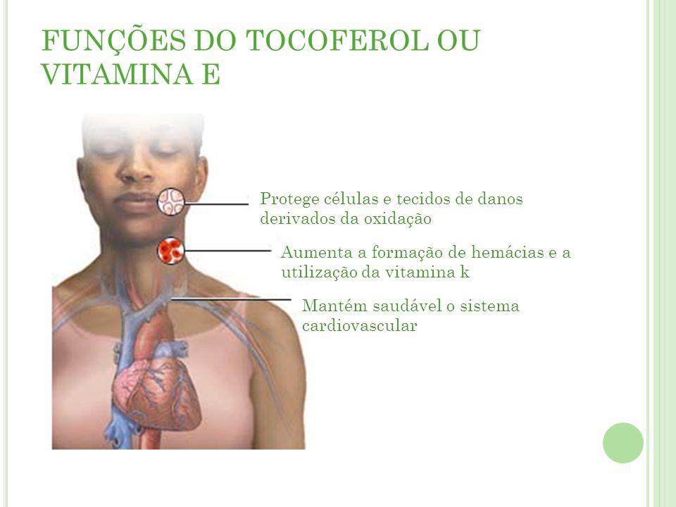 FUNÇÕES DO TOCOFEROL OU VITAMINA E