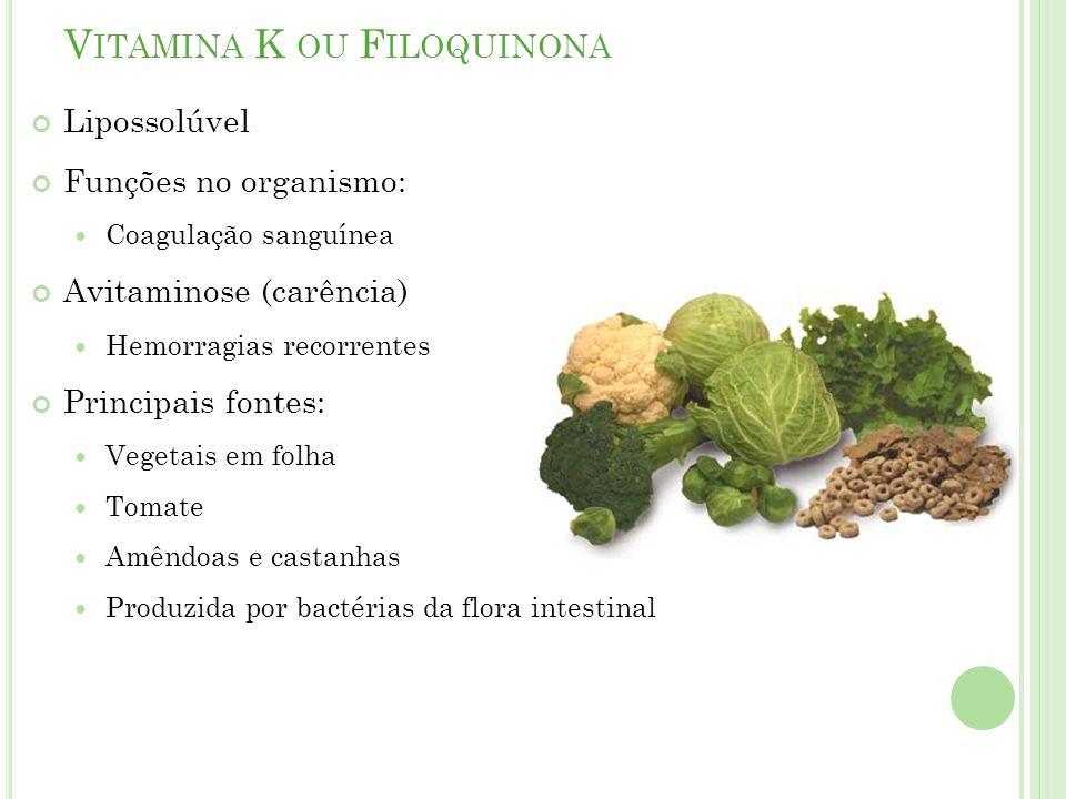 Vitamina K ou Filoquinona