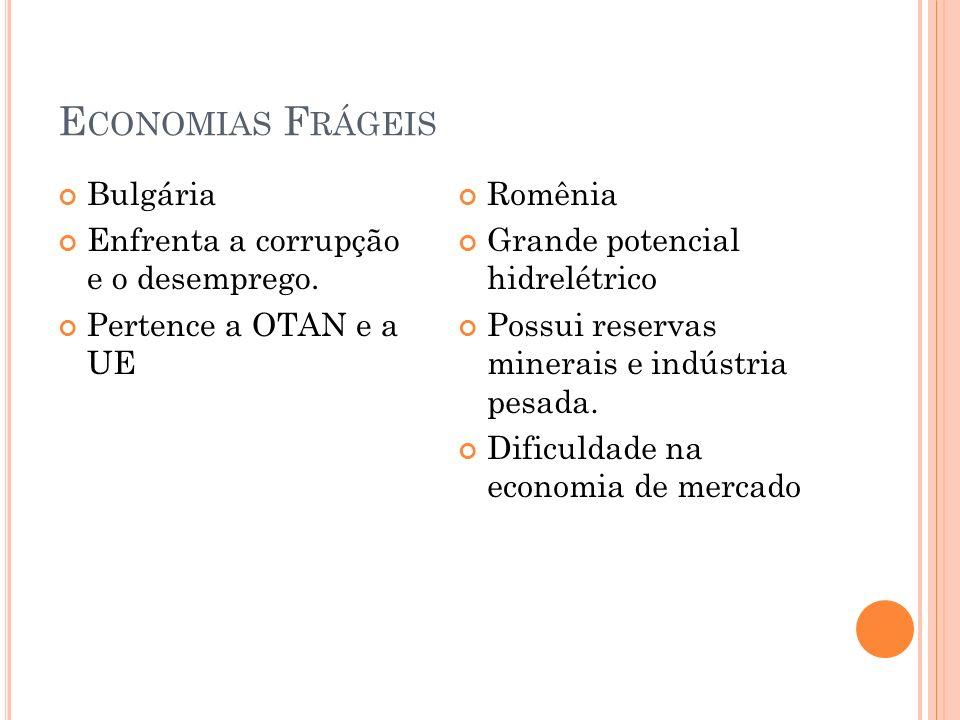 Economias Frágeis Bulgária Enfrenta a corrupção e o desemprego.