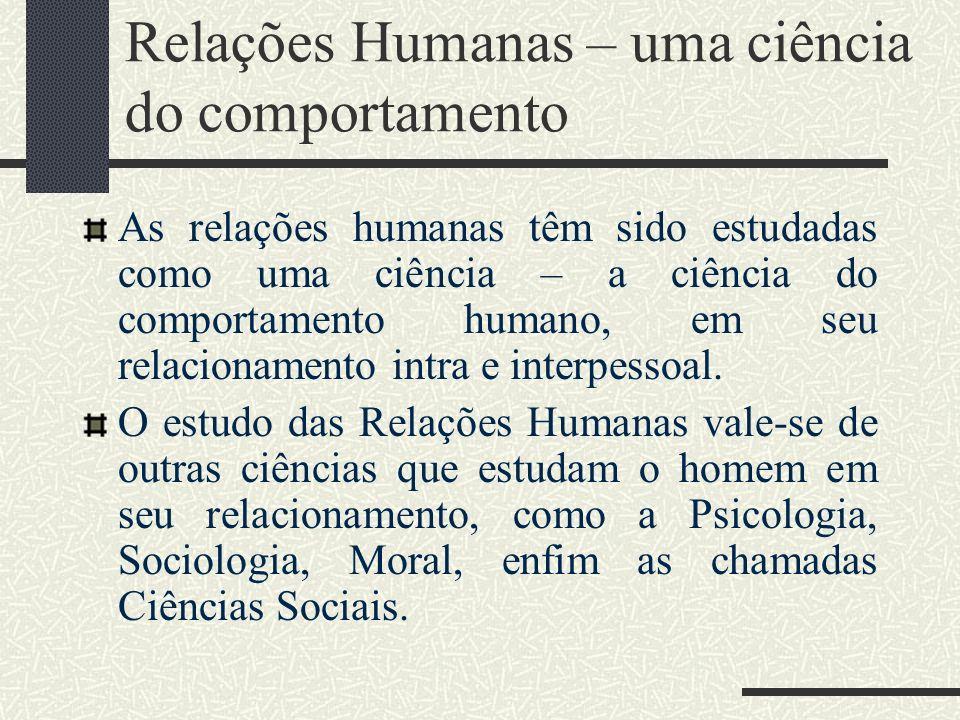Relações Humanas – uma ciência do comportamento