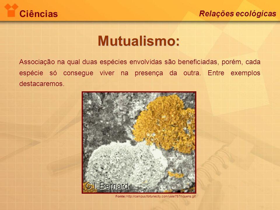 Mutualismo: Ciências Relações ecológicas