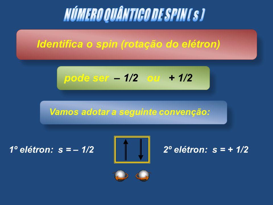 NÚMERO QUÂNTICO DE SPIN ( s )