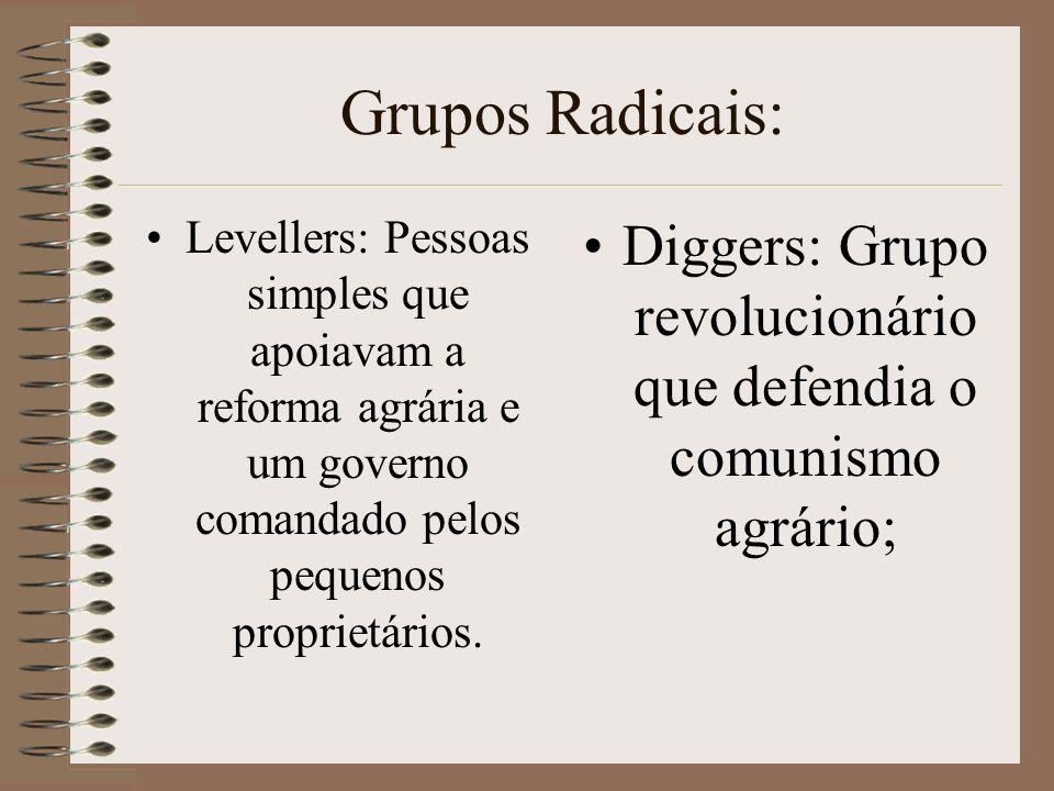 Diggers: Grupo revolucionário que defendia o comunismo agrário;