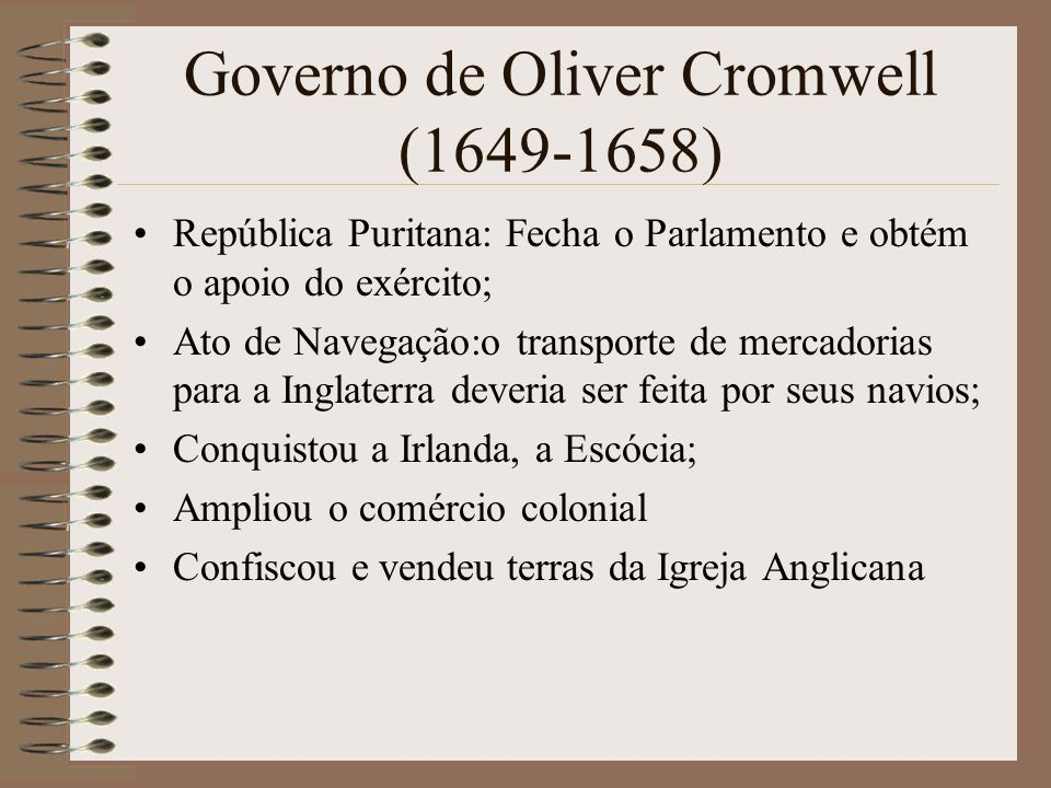 Governo de Oliver Cromwell (1649-1658)