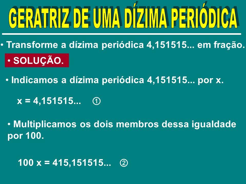 GERATRIZ DE UMA DÍZIMA PERIÓDICA