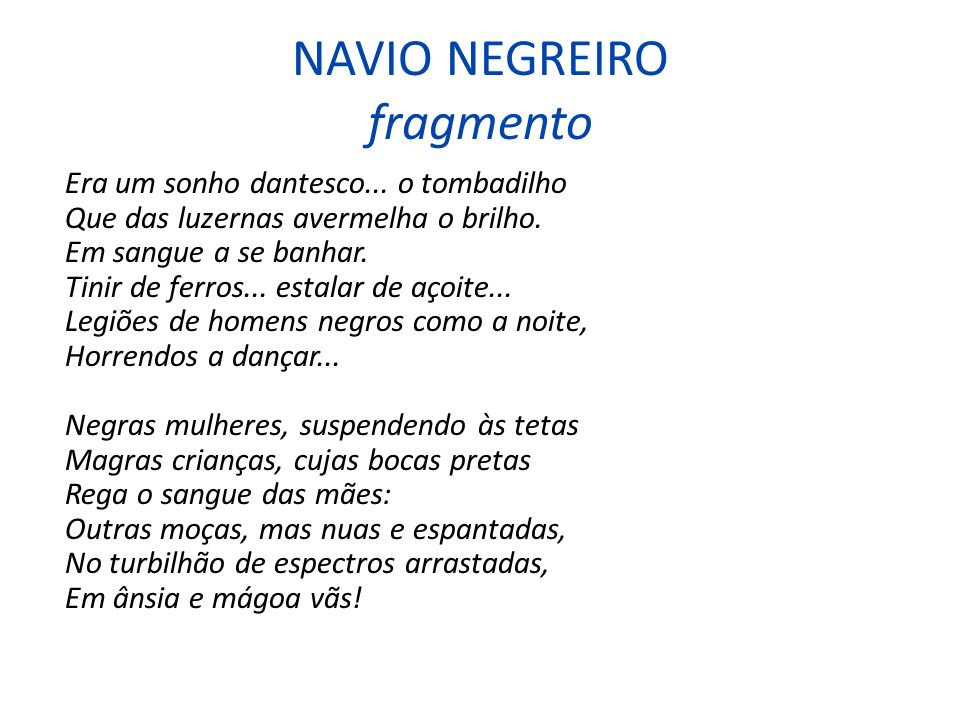 NAVIO NEGREIRO fragmento
