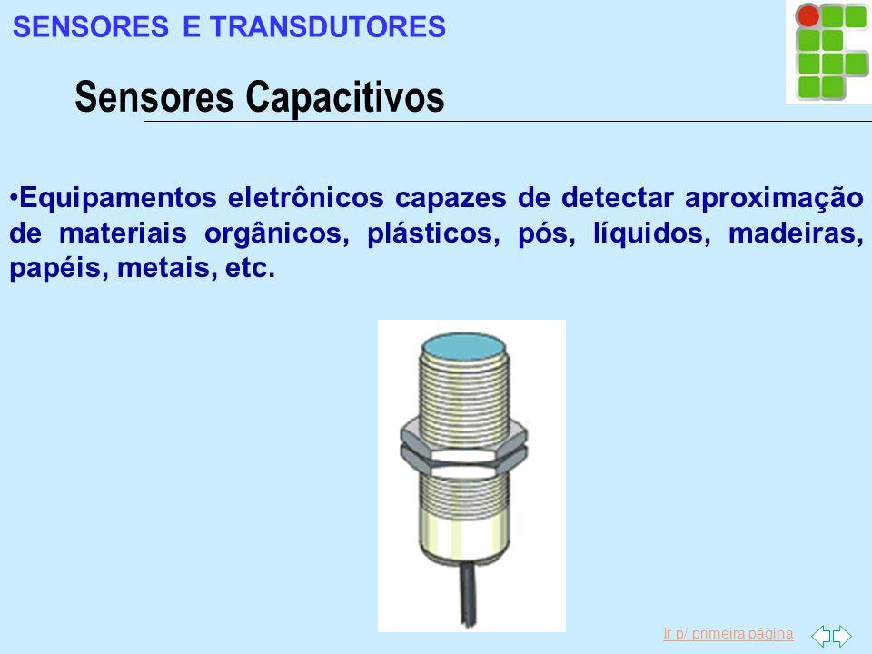 Sensores Capacitivos SENSORES E TRANSDUTORES