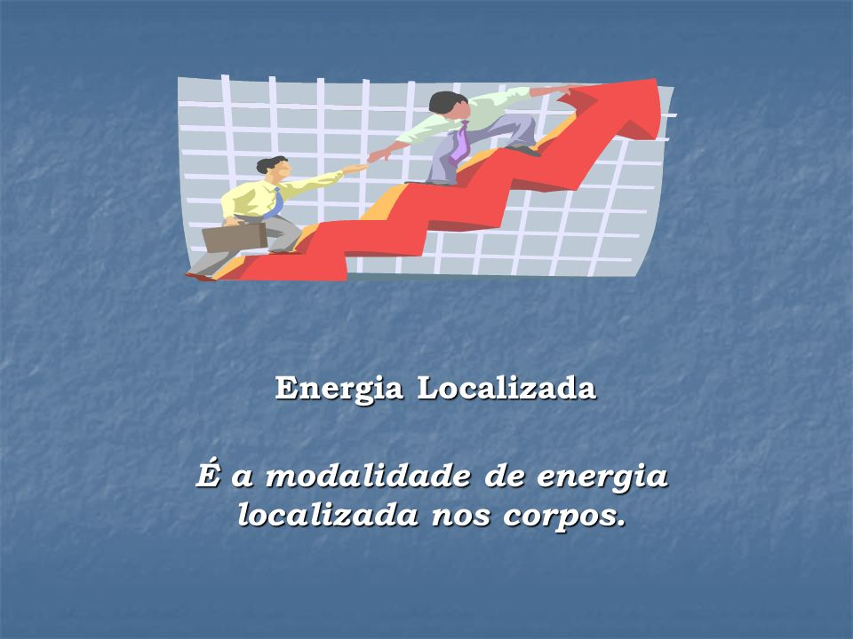 Energia Localizada É a modalidade de energia localizada nos corpos.