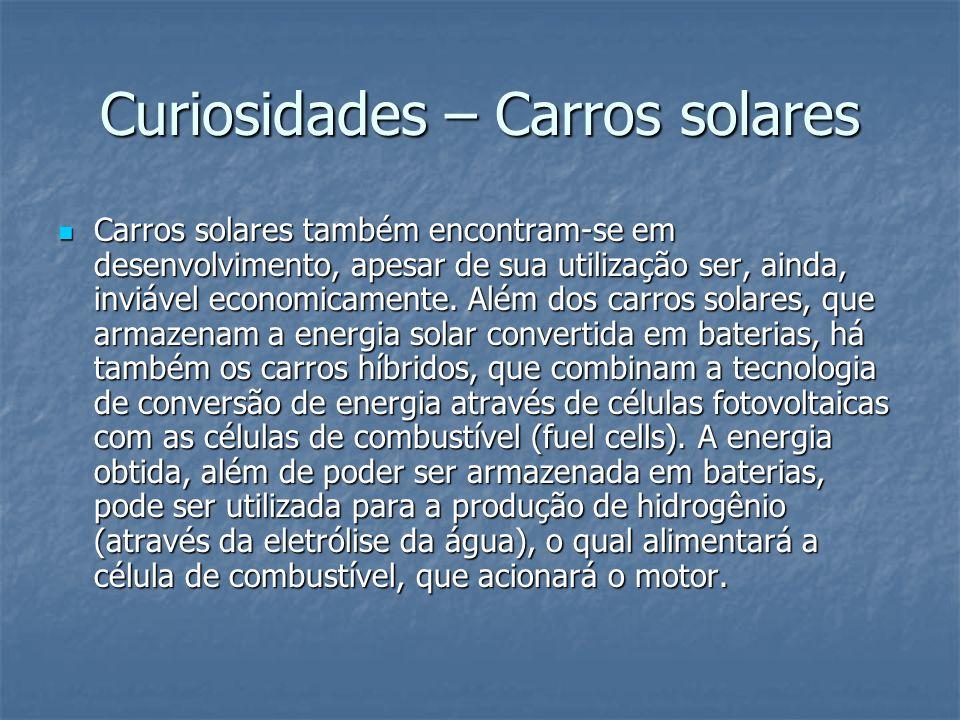 Curiosidades – Carros solares