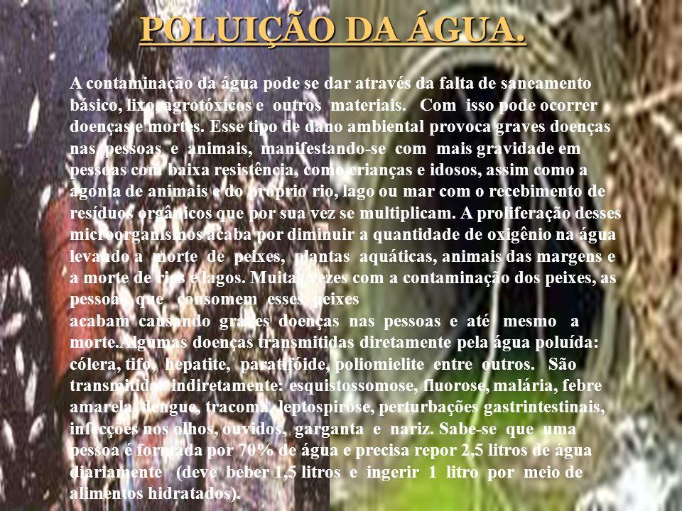 POLUIÇÃO DA ÁGUA.