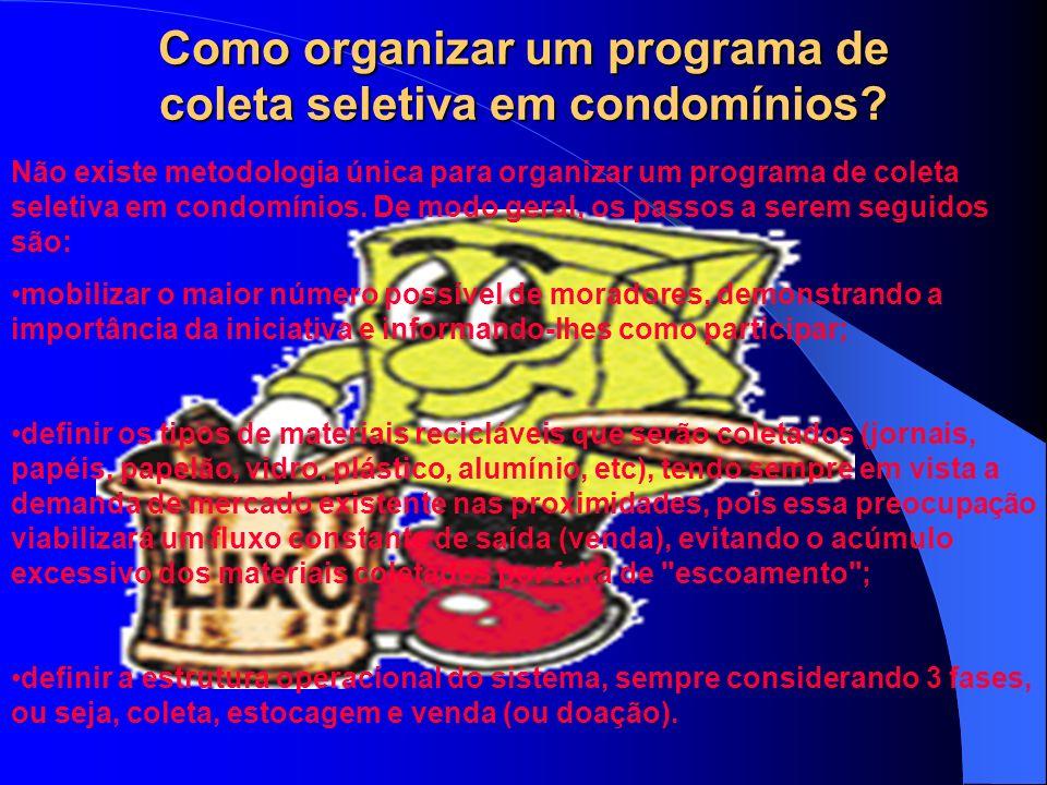 Como organizar um programa de coleta seletiva em condomínios