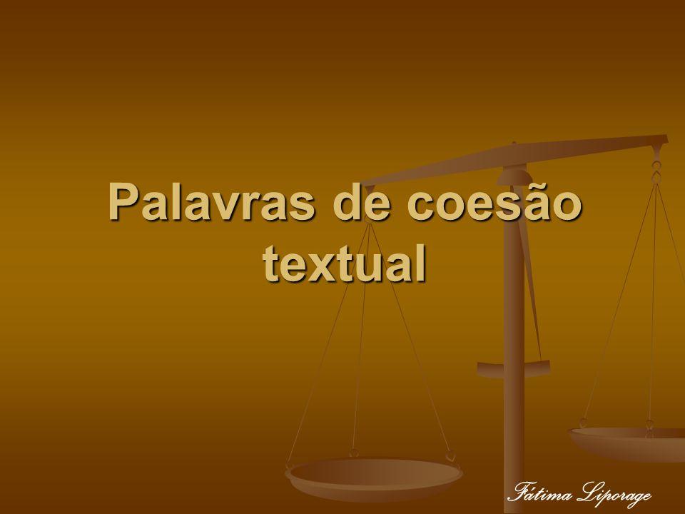 Palavras de coesão textual