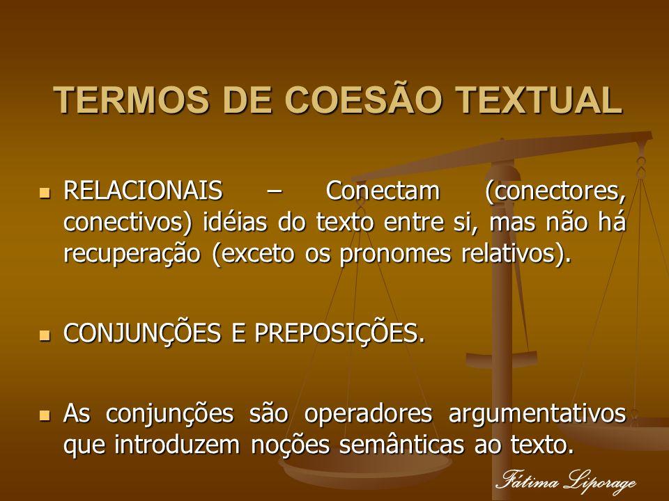 TERMOS DE COESÃO TEXTUAL