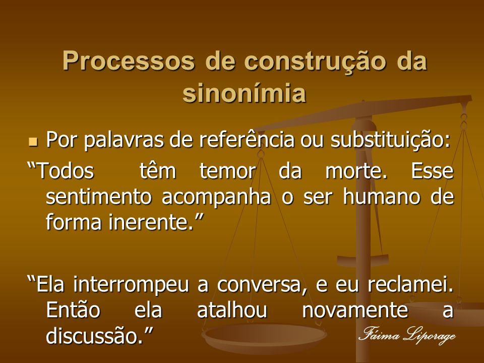 Processos de construção da sinonímia