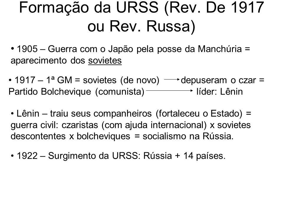 Formação da URSS (Rev. De 1917 ou Rev. Russa)