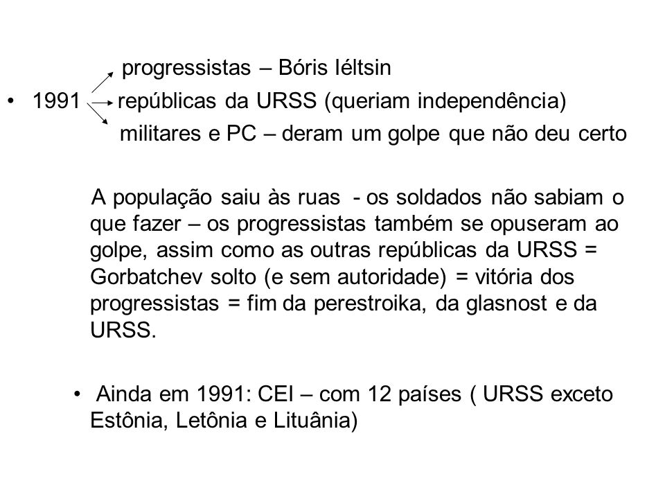 progressistas – Bóris Iéltsin