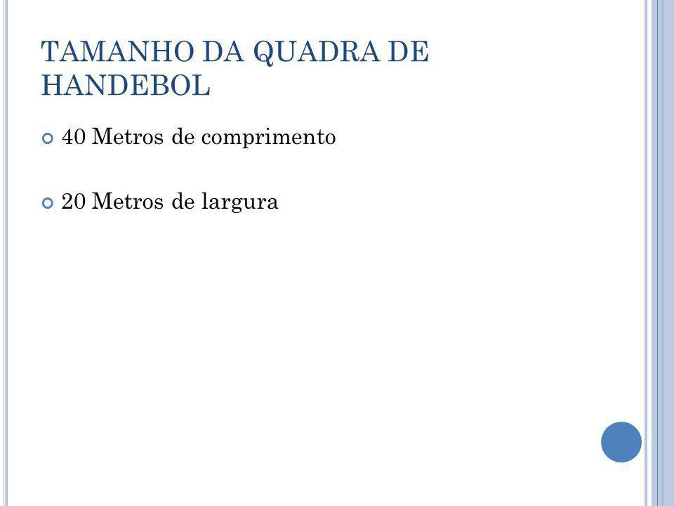 TAMANHO DA QUADRA DE HANDEBOL