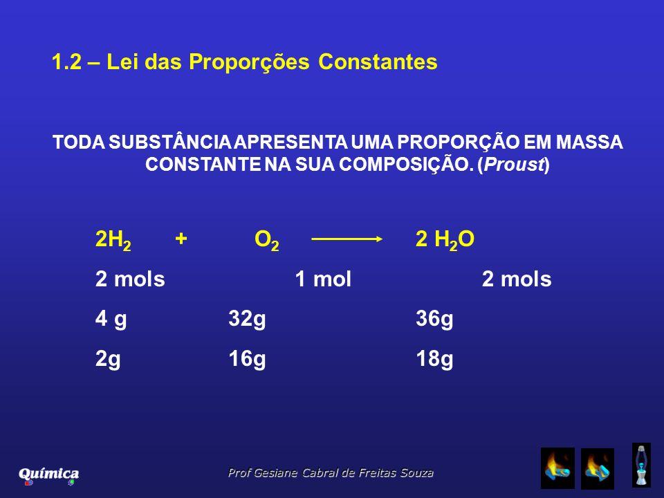 1.2 – Lei das Proporções Constantes