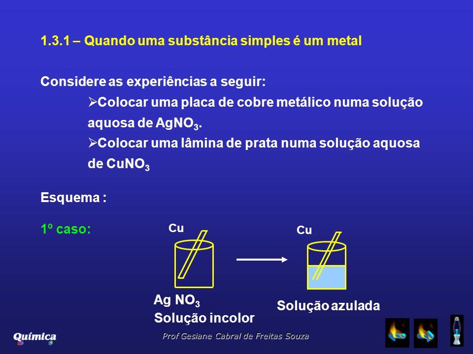 1.3.1 – Quando uma substância simples é um metal