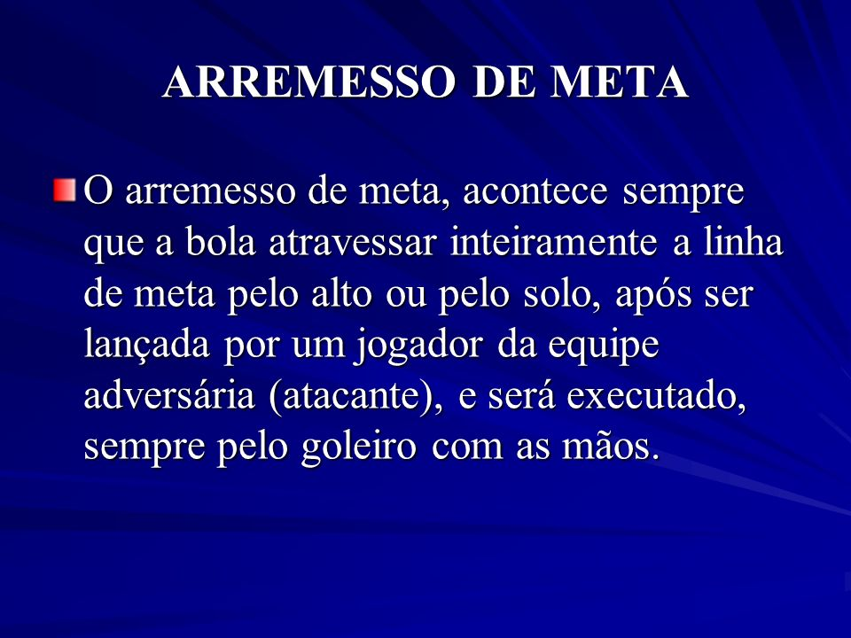 ARREMESSO DE META