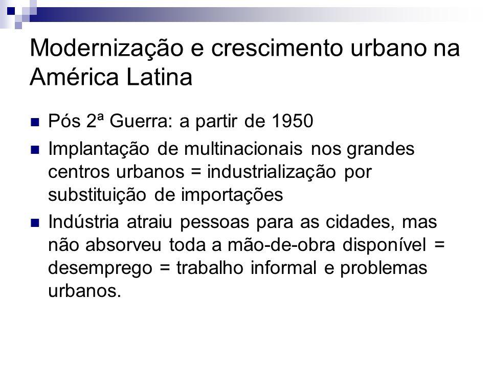 Modernização e crescimento urbano na América Latina