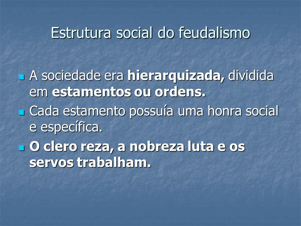 Estrutura social do feudalismo
