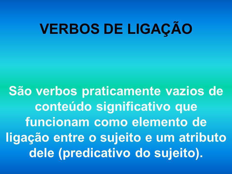VERBOS DE LIGAÇÃO