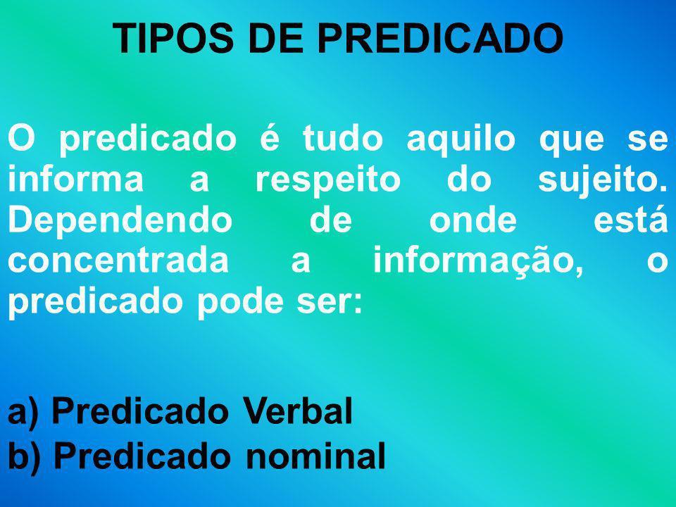 TIPOS DE PREDICADO