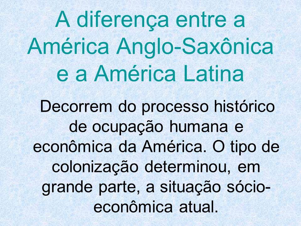 A diferença entre a América Anglo-Saxônica e a América Latina