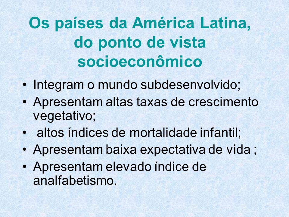 Os países da América Latina, do ponto de vista socioeconômico