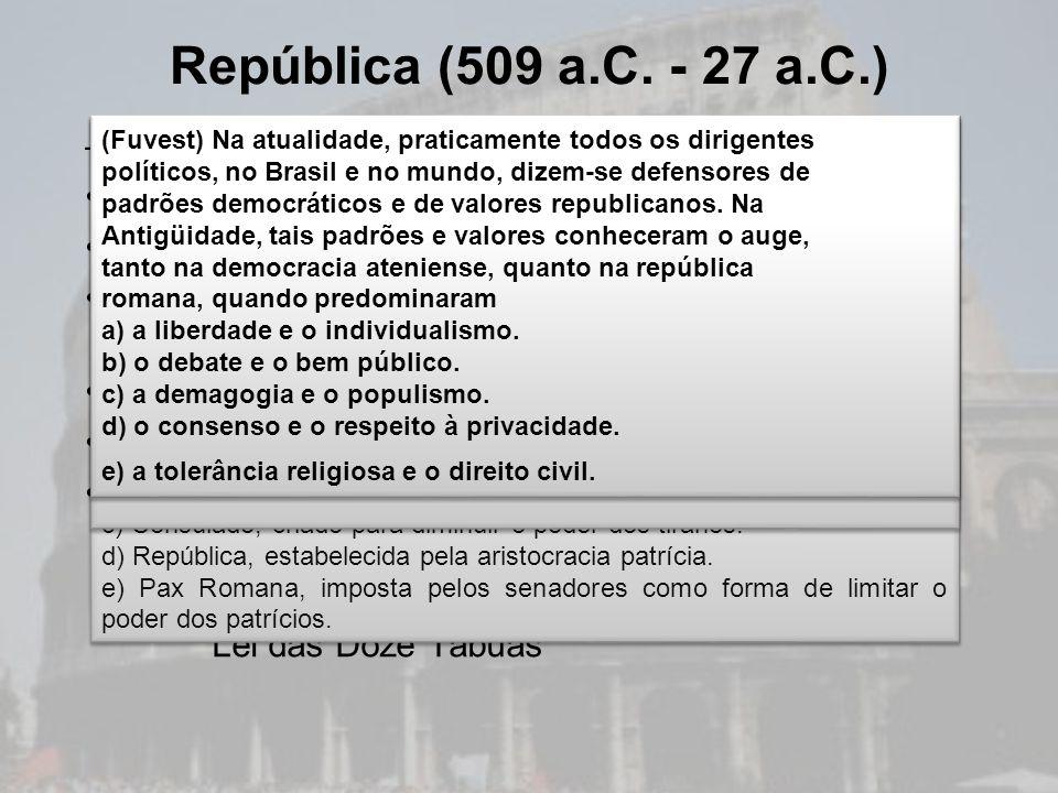 República (509 a.C. - 27 a.C.) Política