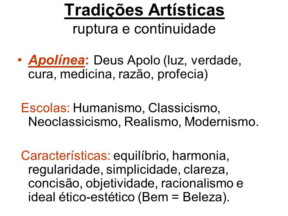 Tradições Artísticas ruptura e continuidade
