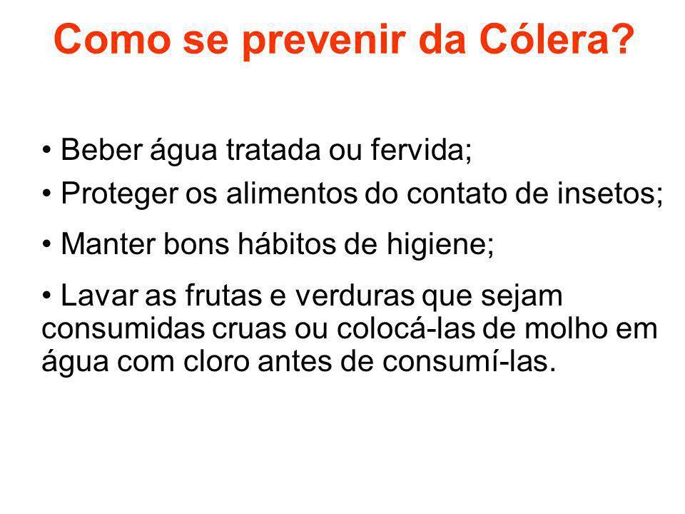 Como se prevenir da Cólera